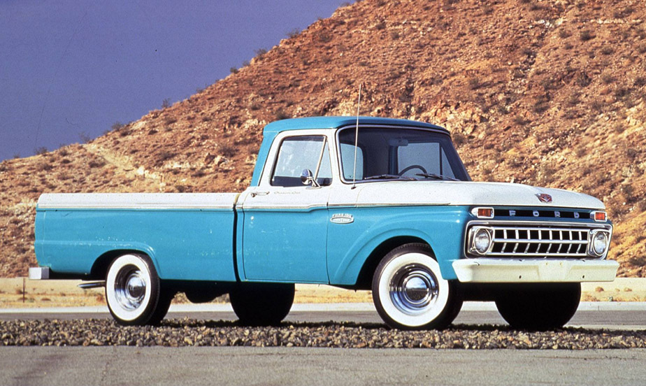 Twin I-Beam debut. 1965 Ford F-100 pickup.